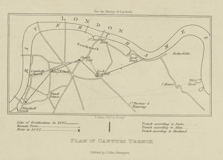 Plan of canutes trench